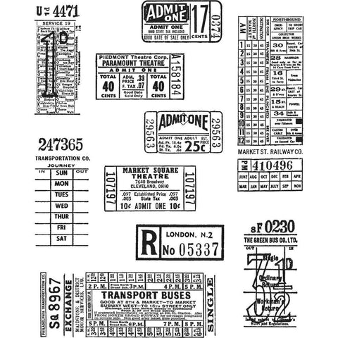 Ranger Ink - Tim Holtz, Ticket Booth Stamp Set