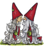 Vilda Stamps Gnomes Kissing