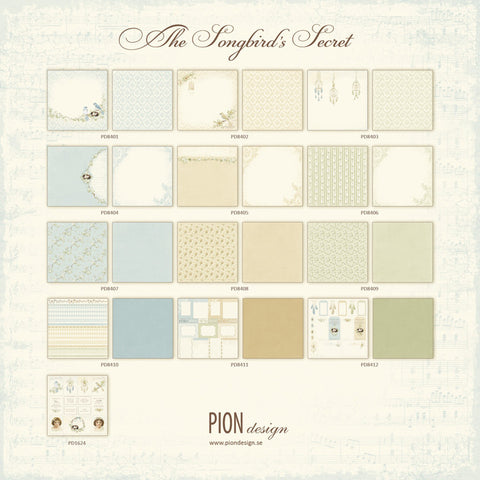 Pion Designs The Songbird's Secret 12x12 Collection