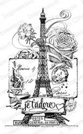 Impression Obsession, Inc Stamp-Paris Collage