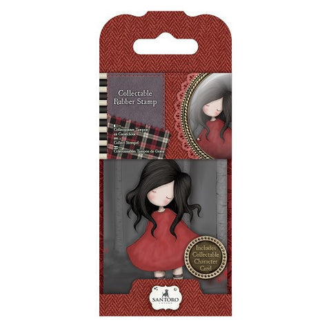 Docrafts Santoro Gorjuss No. 18 POPPY WOOD Stamp - 7 Kids Your Crafting Supply Store