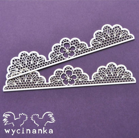 Wycinanka Lace and Floral Border