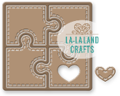 La-La Land Crafts-Metal Die- Heart Puzzle