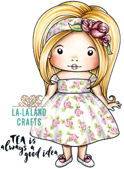 LaLa Land Crafts Stamp- Afternoon tea Marci