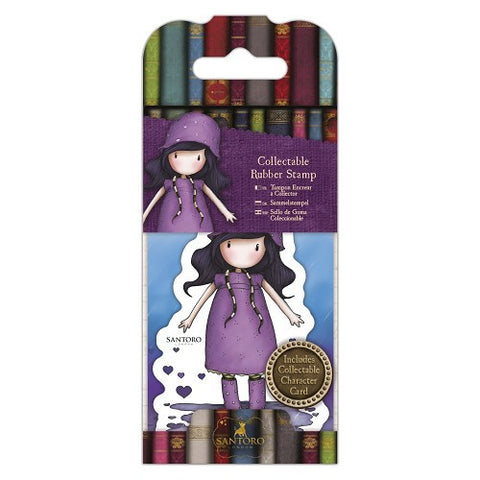 Docrafts Santoro Gorjuss No. 36 RAINY DAZE Stamp - 7 Kids Your Crafting Supply Store