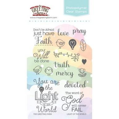 The Greeting Farm Clear Stamp Set-Light of the World
