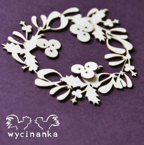 Wycinanka Winter Doodles Wreath