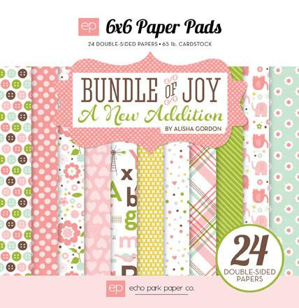 Echo Park Bundle Of Joy A New Addition GIRL-6x6 Paper Pad