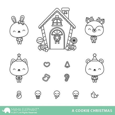 Mama Elephant Stamp Set-A Cookie Christmas