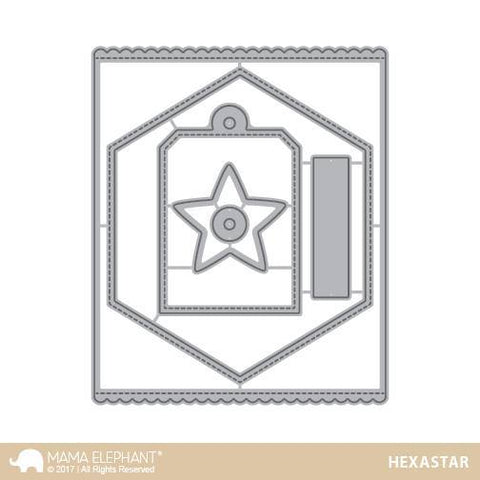 Mama Elephant Creative Cuts Framed Tags-Hexastar
