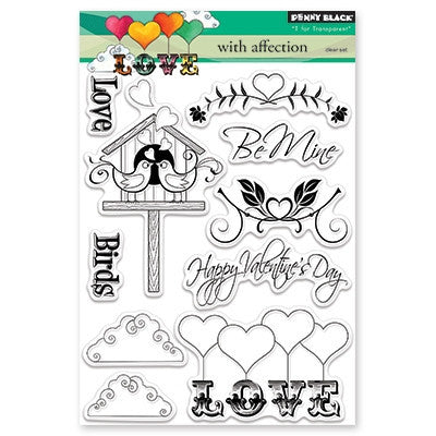 Penny Black With Affection Stamp Set - 7 Kids Your Crafting Supply Store