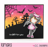 C.C. Designs - Clear Stamp Set, Halloween Pinkies
