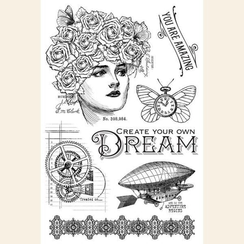 Graphic 45 Dream, Clear Stamp