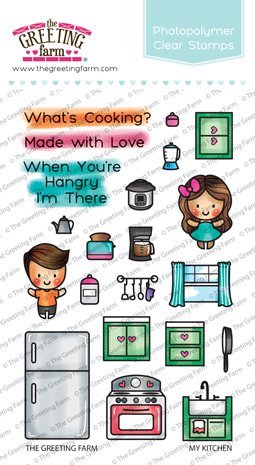 The Greeting Farm Clear Stamp Set- My Kitchen