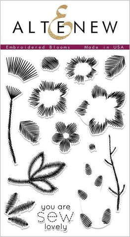 Altenew - Embroidered Blooms, Clear Stamp Set