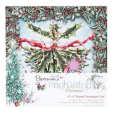 Docrafts 6x6 Framed Decoupage Card-Enchanted Christmas