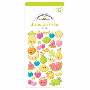 Doodlebug Designs - Sweet Summer Collection, Shape Sprinkles - Fun Fruit