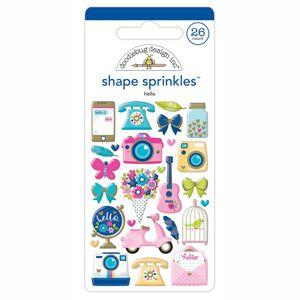 Doodlebug Designs - Hello Collection,  Shape Sprinkles