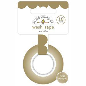 Doodlebug Design - Hello Collection - Washi Tape, Gold Foil Scallop