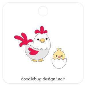 Doodlebug Designs Collectible Enamel Pin- Hen and Chick