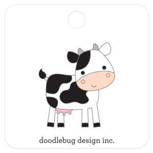 Doodlebug Designs Collectible Enamel Pin- Cow