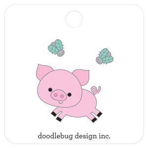 Doodlebug Designs Collectible Enamel Pin- Piggy