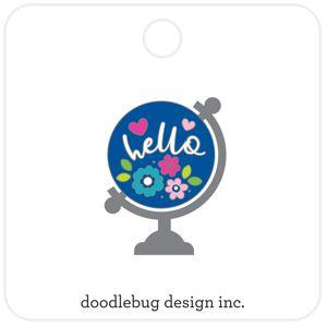 Doodlebug Designs Collectible Enamel Pin- Hello World
