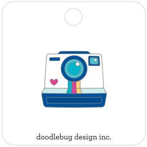 Doodlebug Designs - Collectible Enamel Pin, Smile!
