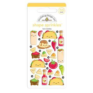 Doodlebug Designs - Shape Sprinkles, Taco-Bout Fun
