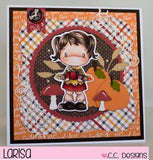 C.C. Designs Swiss Pixie Stamp-Giving Lucy