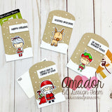 C.C. Designs - Clear Stamp Set, Santa and Friends