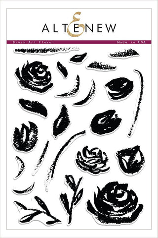 Altenew - Brush Art Floral, Clear Stamp Set