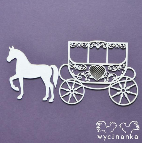 Wycinanka Beautiful Wedding Lacy Carriage