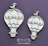 Wycinanka Chipboard Mr. & Mrs. 3D Balloons