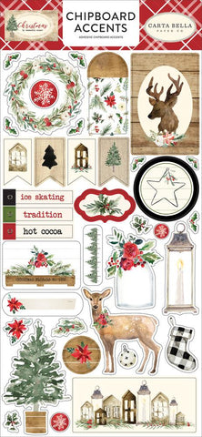 Carta Bella - Christmas,  Chipboard Accents