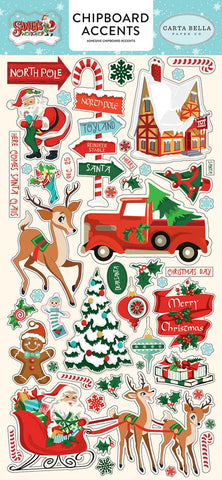 Carta Bella - Santa's Workshop,  Chipboard Accents