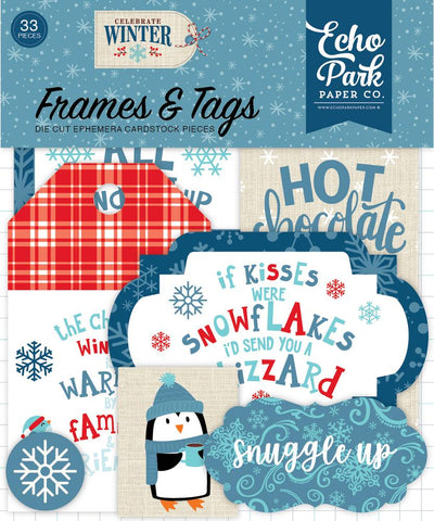 Echo Park Celebrate Winter-Frames and Tags