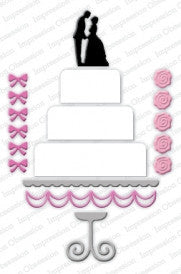 Impression Obsession, Inc Die-Wedding Cake