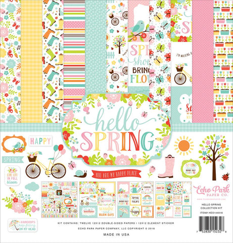 Echo Park Hello Spring-12x12 Collection Kit
