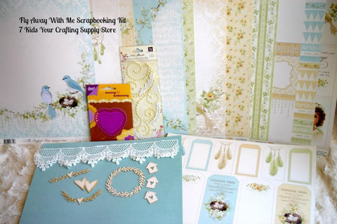 7 Kids- Fly Away With Me Scrapbooking Kit