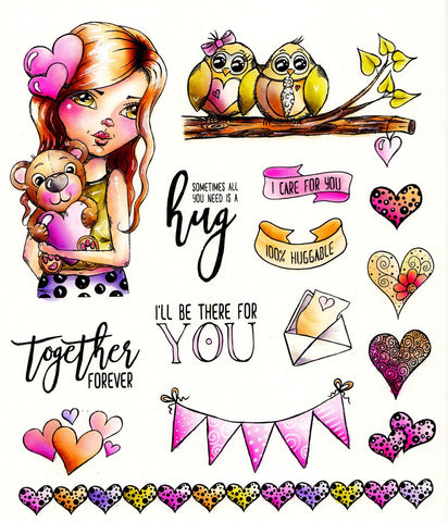 L.D.R.S. Creative -  Cre8tive Cre8tions, Huggable, Stamp set