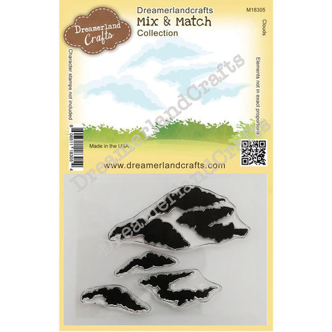 Dreamerland Crafts - Mix and Match Stamps, Clouds Clear Stamp