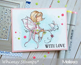 Whimsy Stamps - Fairy and Her Bunny Rubber Stamp