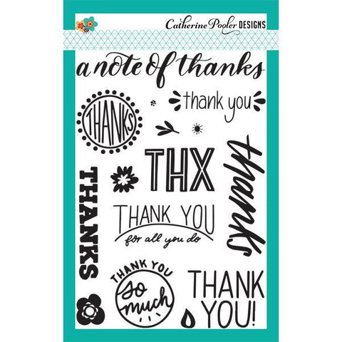 Catherine Pooler Stamp Set- Note of Thanks