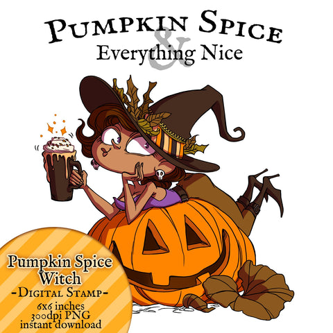 Moonlight Whispers Digital Stamp - Pumpkin Spice
