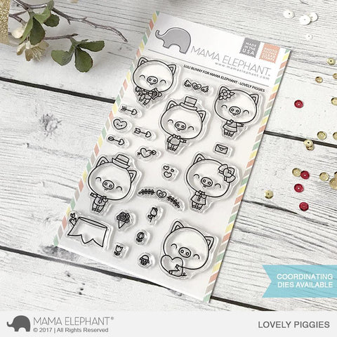 Mama Elephant Stamp Set-Lovely Piggies