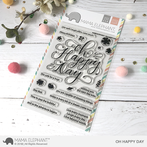 Mama Elephant - Oh Happy Day, Clear Stamps