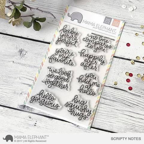 Mama Elephant Clear Stamp- Scripty Notes