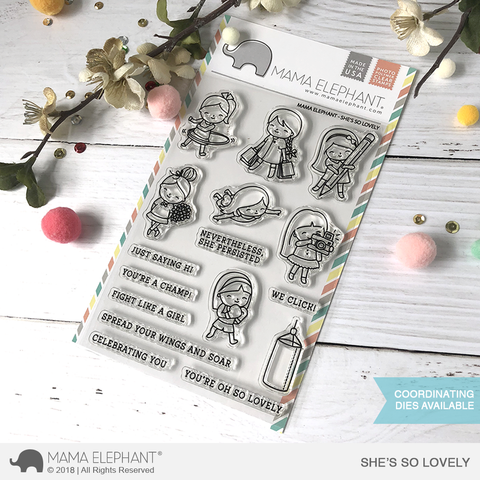 Mama Elephant - She's So Lovely, Clear Stamps