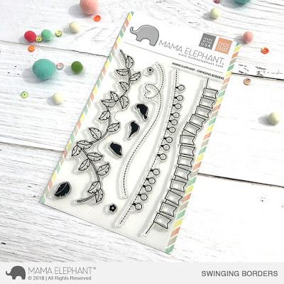 Mama Elephant - Swinging Borders, Clear Stamps